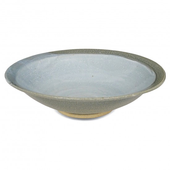 Large Light Blue Stoneware Studio Bowl