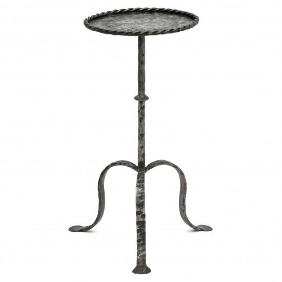 Polished Steel Tripod Table
