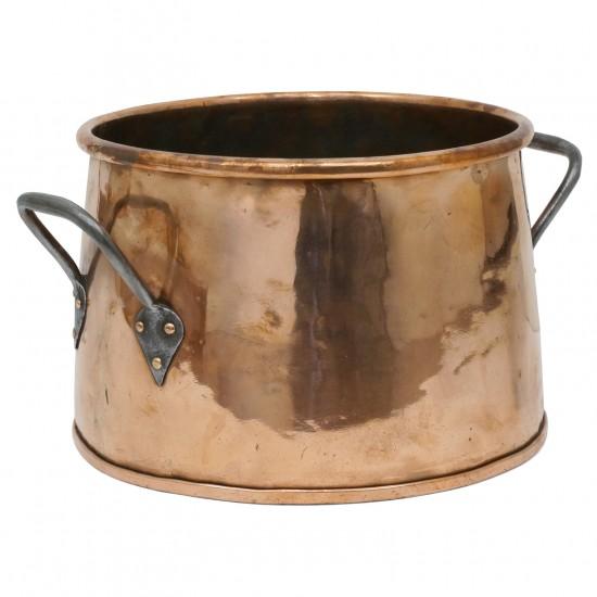 French Circular Copper Bucket
