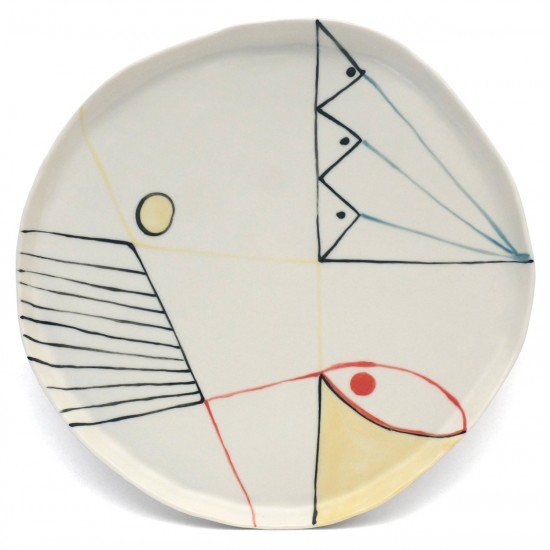 Hand Made Decorated Porcelain Plate
