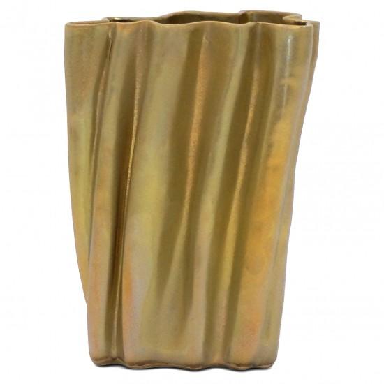 Ceramic Silver Gold Glazed Vase