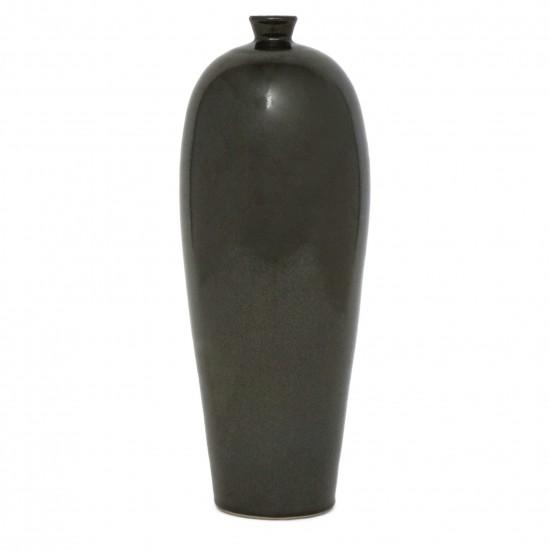 Tall Graphite Ceramic Vase
