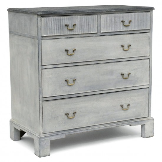 Painted Five Drawer Commode