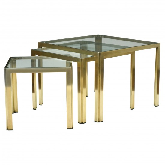 Italian Brass and Glass Tables
