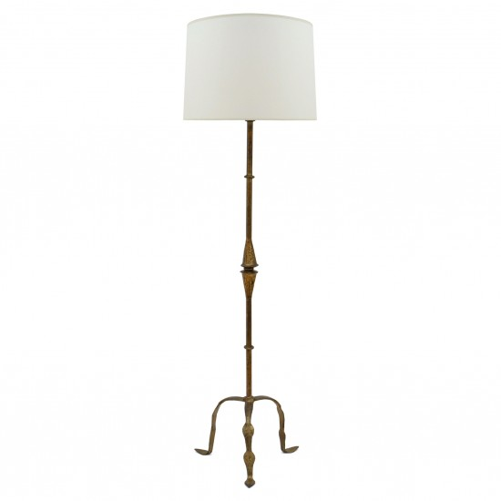 Gilt Iron Standing Lamp