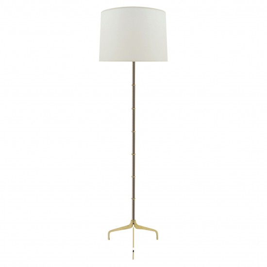 Steel and Brass Standing Lamp