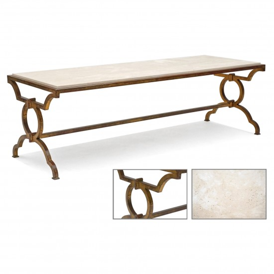 Gilt Iron Coffee Table Attributed to Gilbert Poillerat
