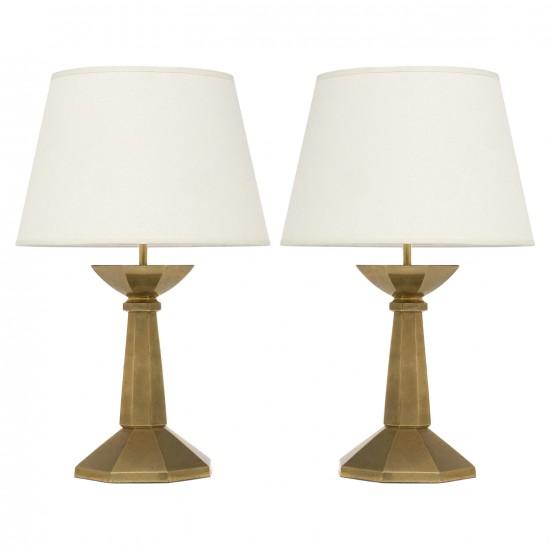 Pair of Bronze Lamps