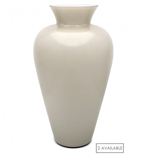 Large Beige Murano Glass Vases