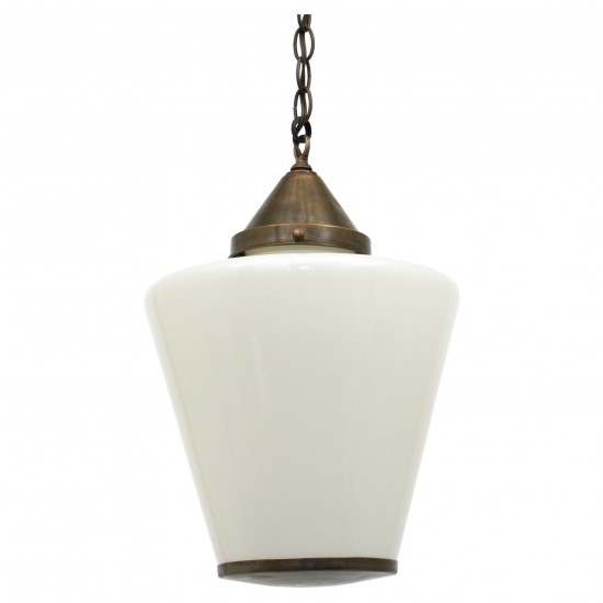 Italian Milk Glass Pendant Light