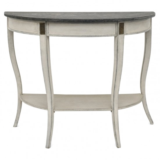 Painted Demi-Lune Console Table