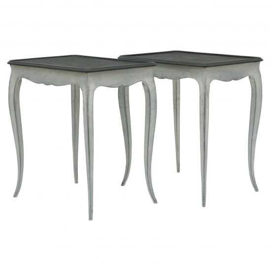 Pair of Small Painted Tables