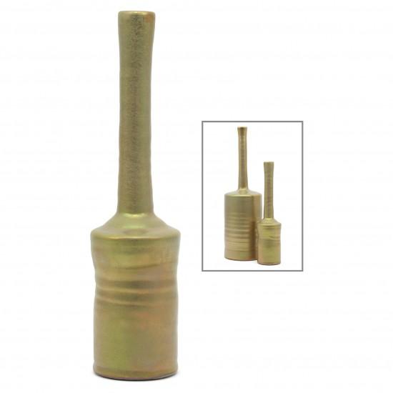 Gold Glazed Ceramic Vase
