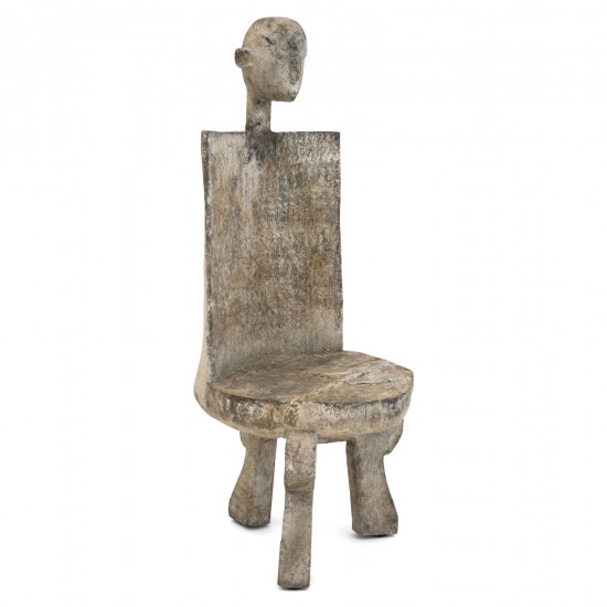 Small Carved and Painted African Child's Chair