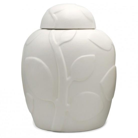 White Porcelain Jar With Lid