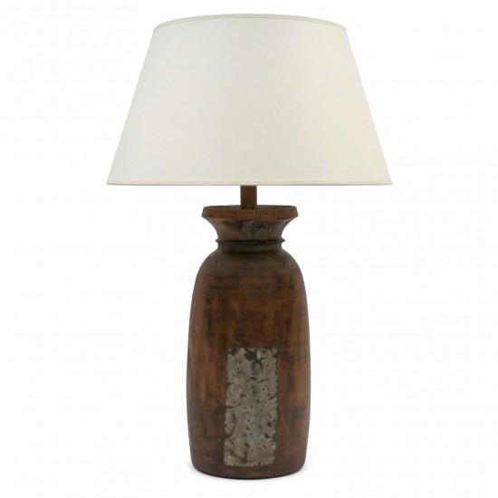 Antique Wood Milk Pot Lamp