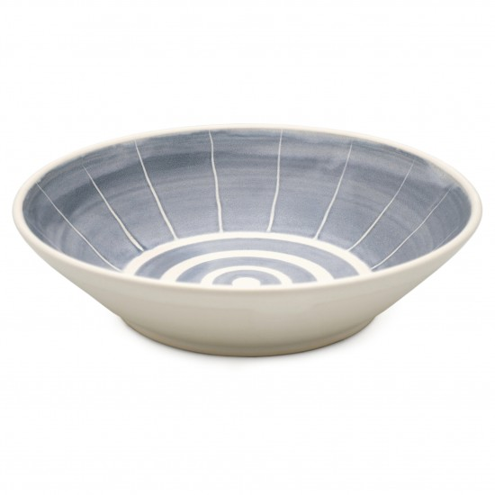 Blue and White Stoneware Bowl