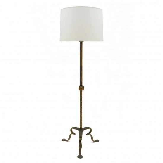 Gilt Iron Standing Lamp