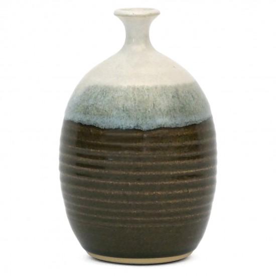 Three Color Stoneware Vase