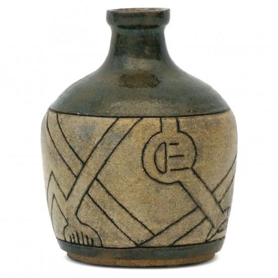 Incised Stoneware Vase