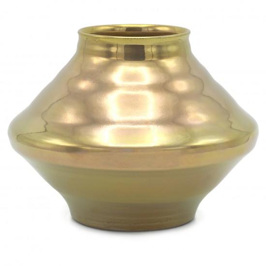 Gold Glazed Stoneware Vase