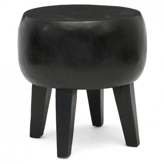 Circular Suar Wood Stool or Small Table