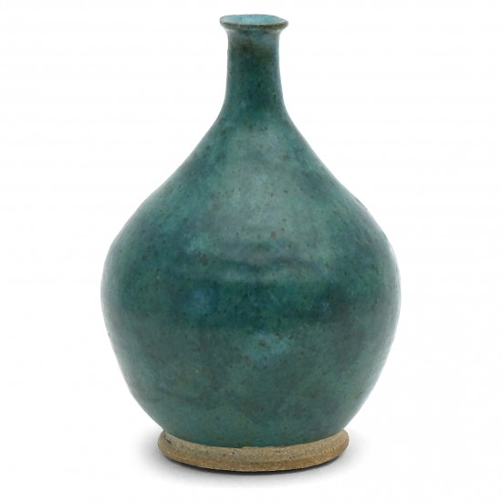 Blue Green Stoneware Vase