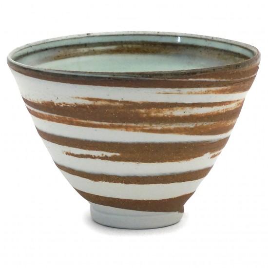Celadon and Brown Stripe Bowl