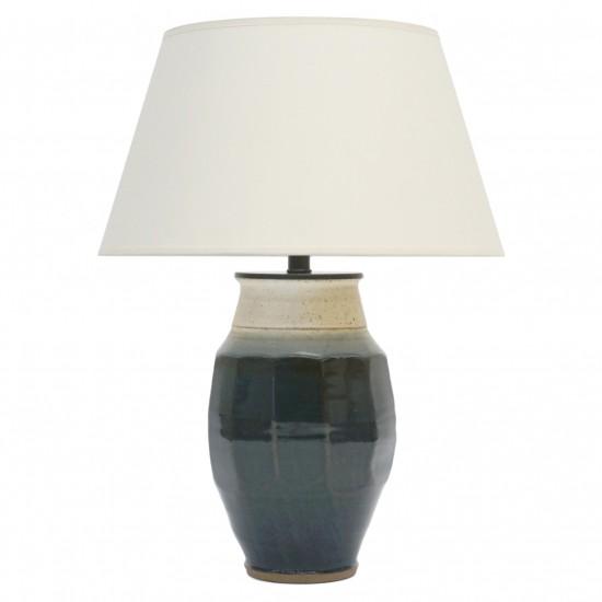 Studio Stoneware Vase Mounted as a Lamp