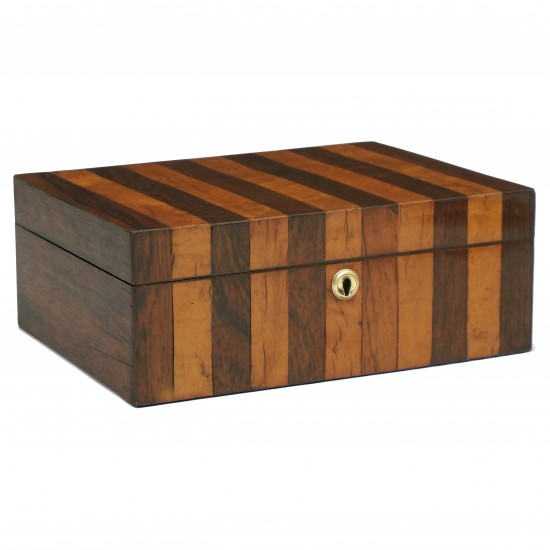 Rosewood and Burl Wood English Box