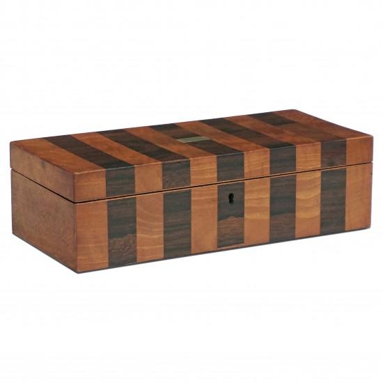 Rosewood and Satinwood  Inlaid  English Box