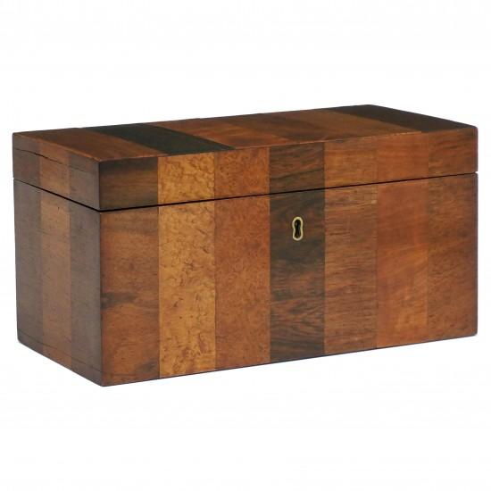 English Specimen Wood Tea Caddy