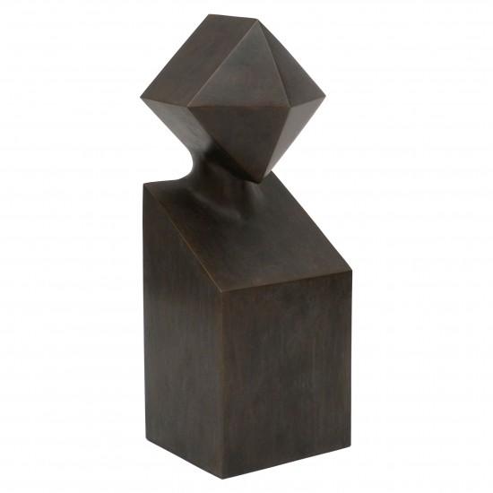 Abstract Bronze Figural Sculpture