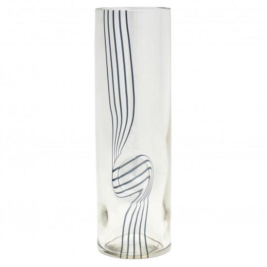 Large Glass Cylinder Vase by Seguso