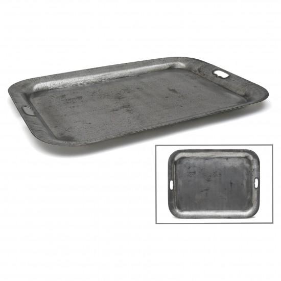 Rectangular Polished Steel Tray
