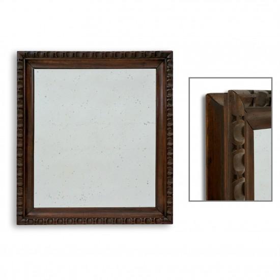 French Carved Mahogany Mirror