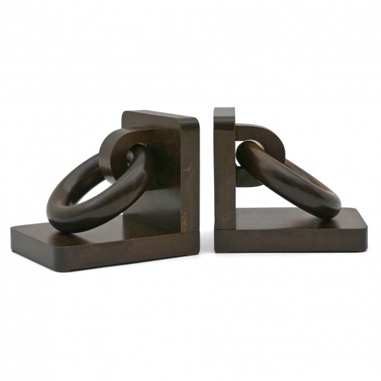 Wood Ring Bookends
