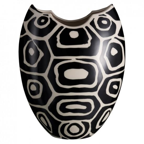 Porcelain Black and White Vase